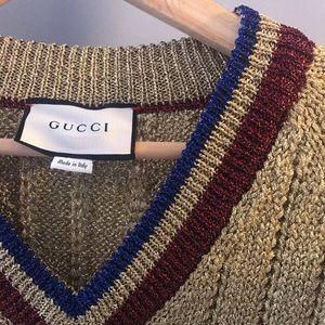 Gold metallic Gucci sweater!